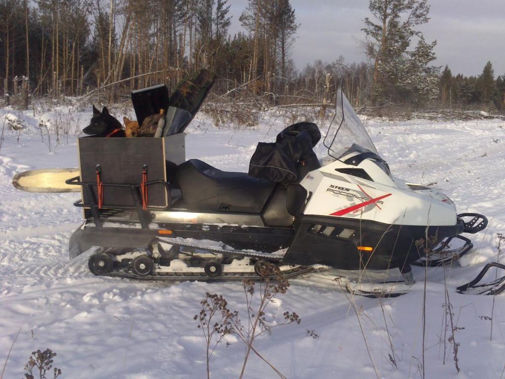 Ютуб охота на снегоходе